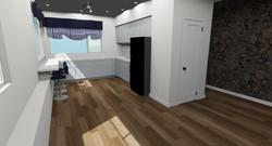 Hawaii Kitchen Remodel 3D Render