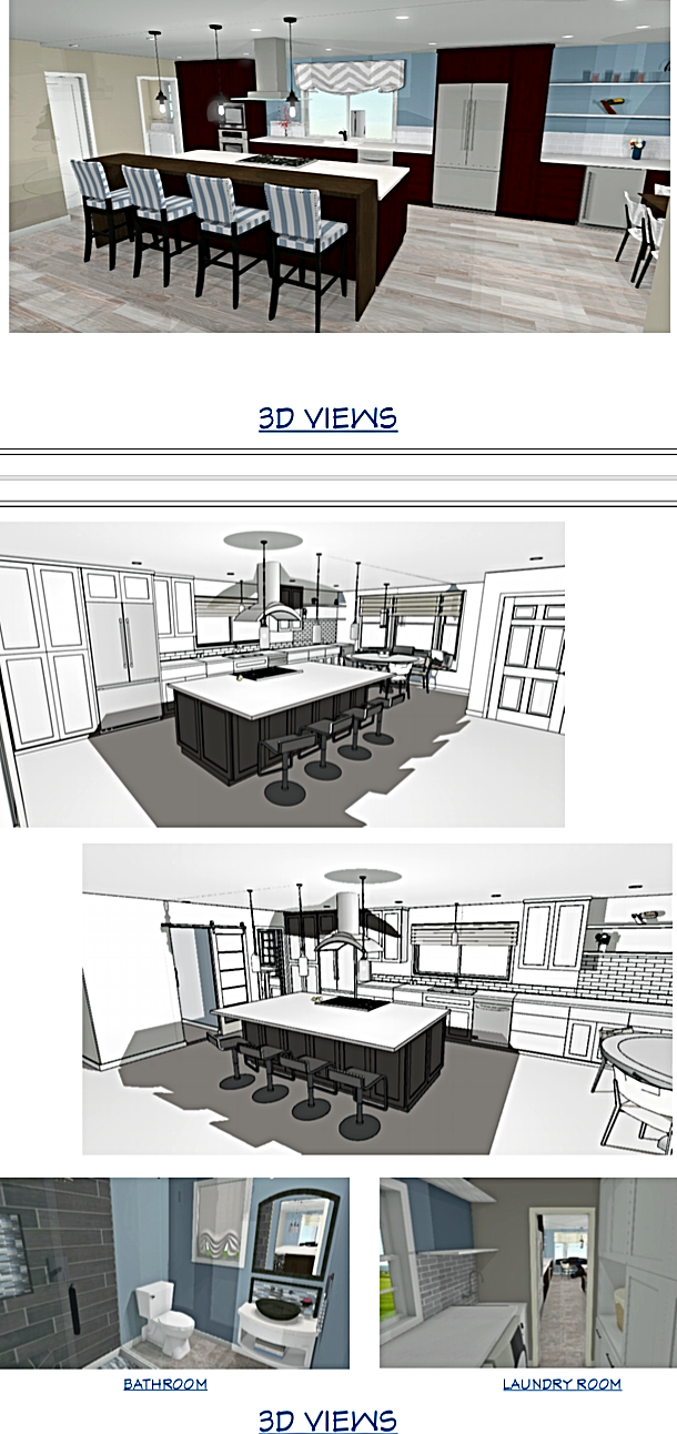 3D Views of a Kitchen Remodel