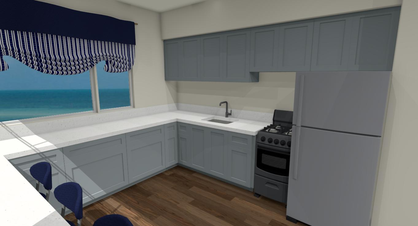 Hawaii Kitchen Remodel Prelim.3D view