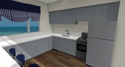 Hawaii Kitchen Remodel Prelim.3D view