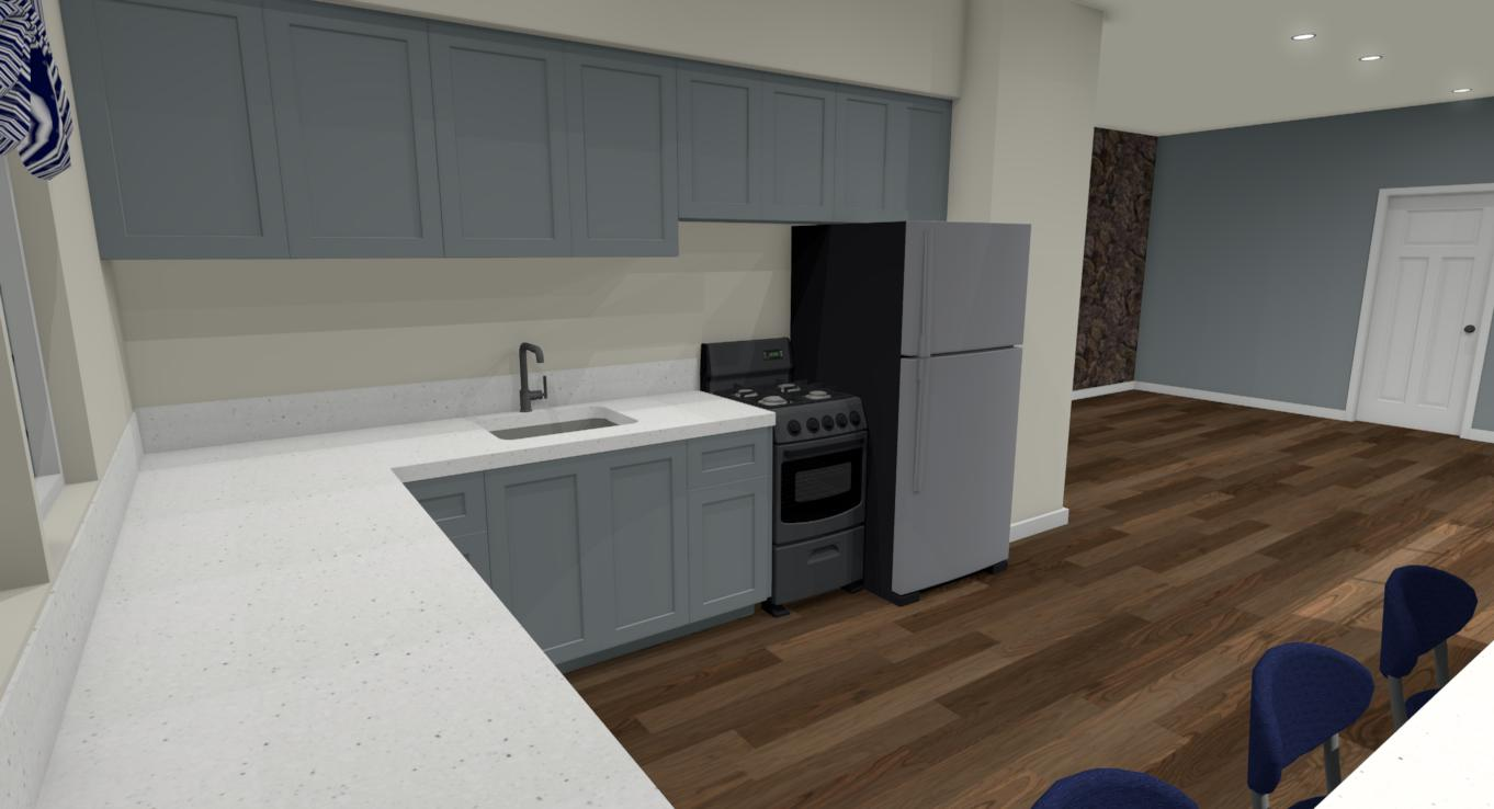Hawaii Kitchen Remodel Rendering