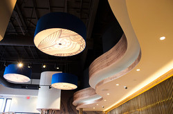 Blue Smoke Sushi Lounge Custom Ceiling Woodwork by Sanwood Const