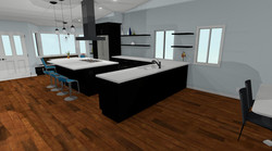 Contemporary Kitchen Remodel 3d views