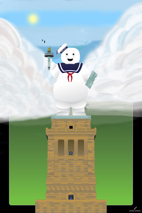 Statue of Stay Puft (Regular & Variant) movies posters
