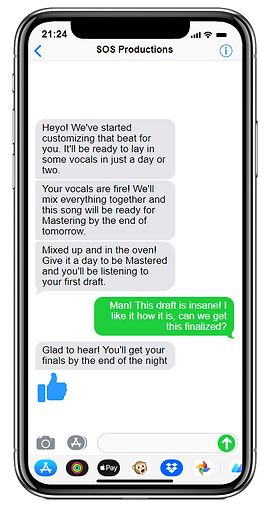 automated texts to keep a musician informed