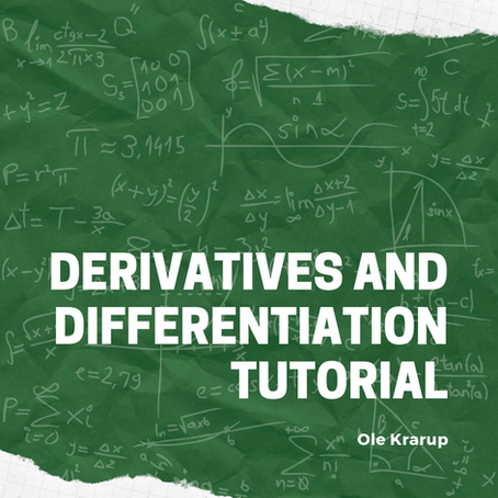 Derivatives and differentiation tutorial