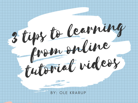 3 tips to learning from online tutorial videos