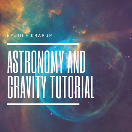 Astronomy and Gravity Tutorial