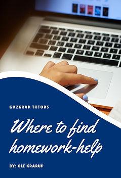 "Blog post by the Go2Grad Tutor Ole Krarup ""Where to find homework help"""