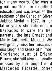 Ernestine Doreen Mcleod