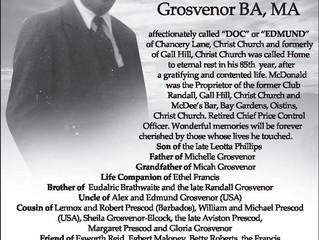 Mc Donald Grosvenor BA, MA