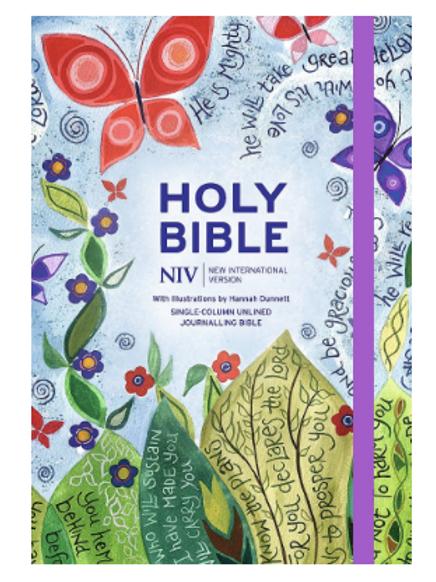 Hannah Dunnett. Journaling Bible. Single Column Bible. NIV Journaling Bible
