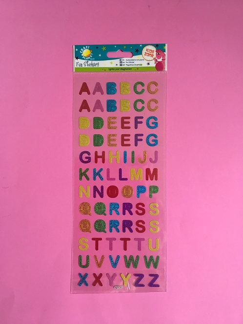 Shiny Alphabet & Number Stickers. Craft Planet. Rainbow Colours