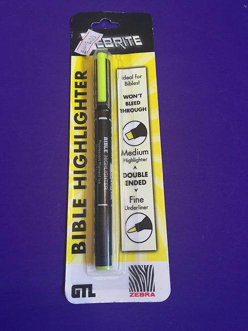 Zebrite Bible Highlighter yellow