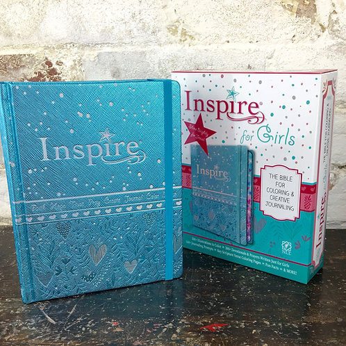 NLT Inspire Bible For Girls. HardbackNew Living Translation Journaling Bible for