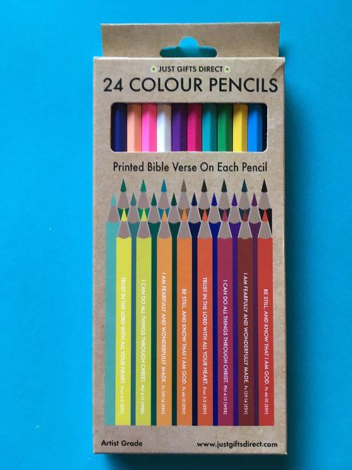 Bible verse Pencils. Colouring pencils. Bible verse gift.
