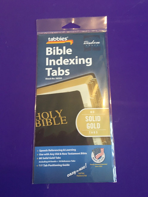 Bible Indexing Solid Gold Tabs
