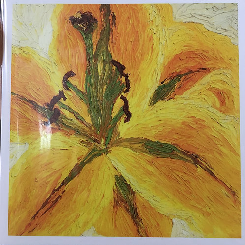 Yellow Lily, Any occasion Greeting Card