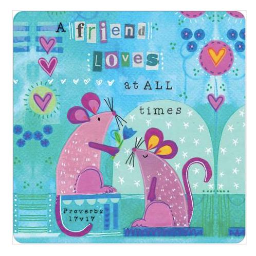 Christian Friend Coaster. A friend loves mice Coaster