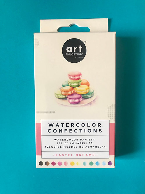 Prima     - Watercolor Confections Watercolour Pans - Pastels