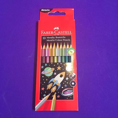 Faber Castell metallic colour pencils.