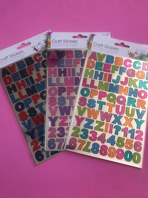 SilvCraft Alphabet Sticker.  Stickers.