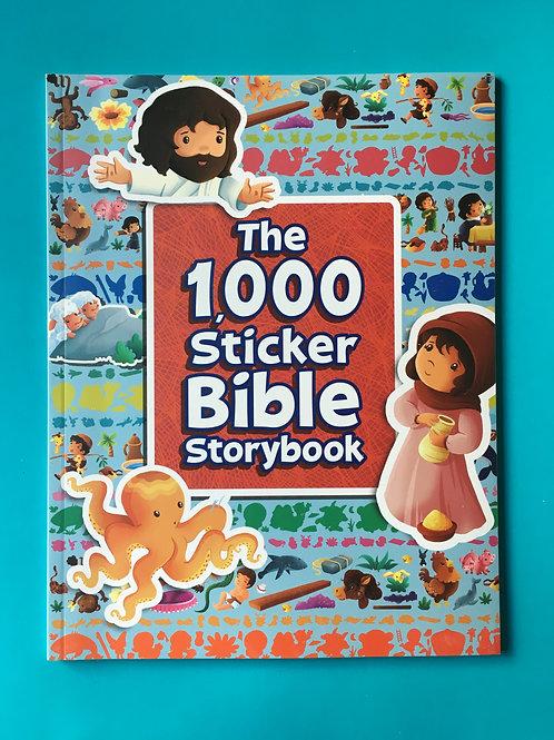 The 1000 Sticker Bible Storybook. Christian Childrens Stickerbook.