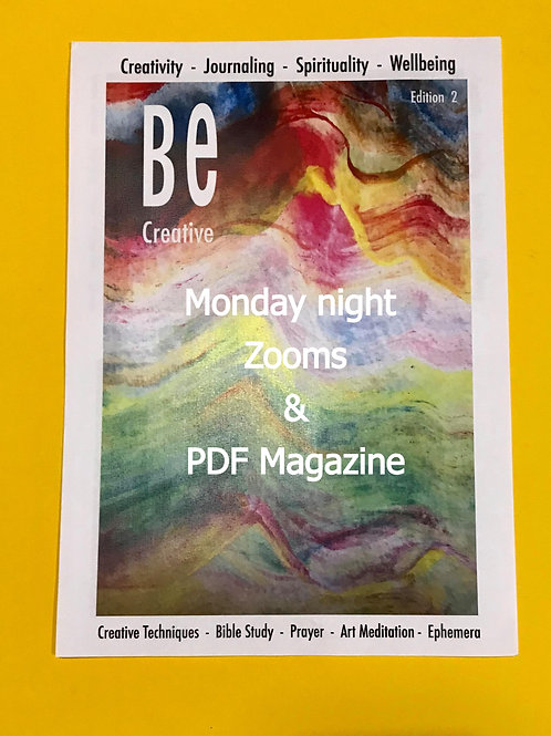 ZOOM Workshops & Beginners Guide to Bible Art Journaling. BE Creative 2 Magazine
