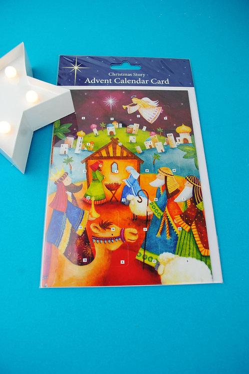 Advent Calendar Card. Christmas Story
