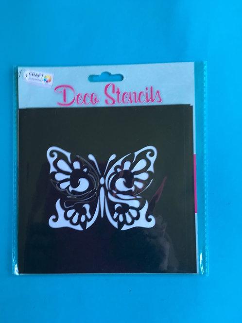 Stencil set. Butterfly stencil