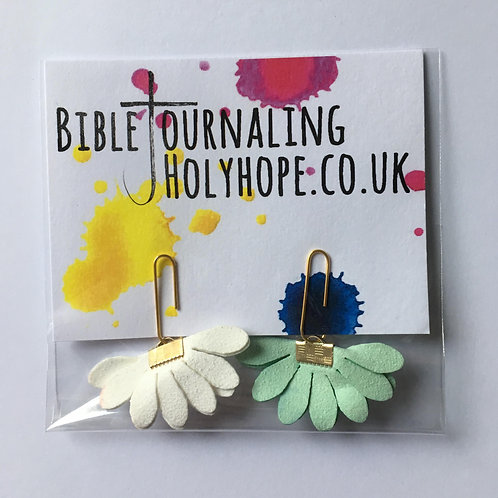 Flower Bible Bookmarks. Christmas Christian Gift. Stocking Filler.