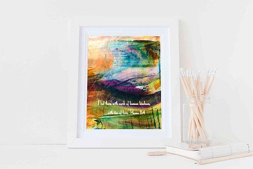 Christian gift. Christian framed print. Loving kindness.