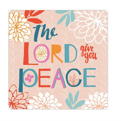 Christian Coaster. Bible Verse Gift. The Lord give you peace