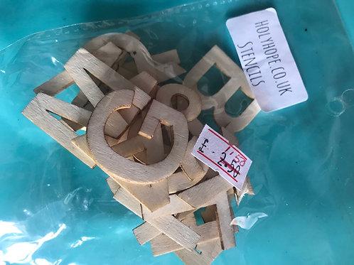 Alphabet Wooden Stencil Letters