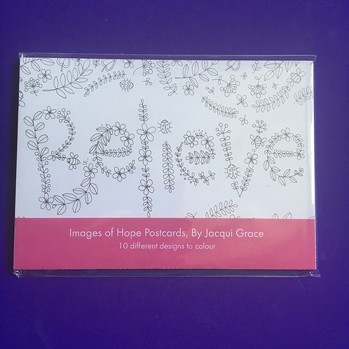 Images of Hope Inspirational hand-drawn postcards. Jacqui Grace