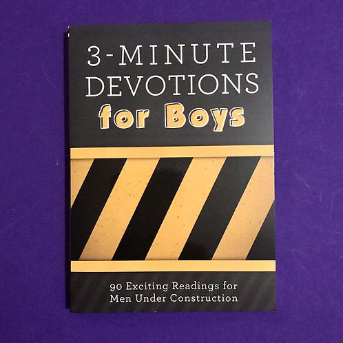 3 - Minute Devotiona for boys.