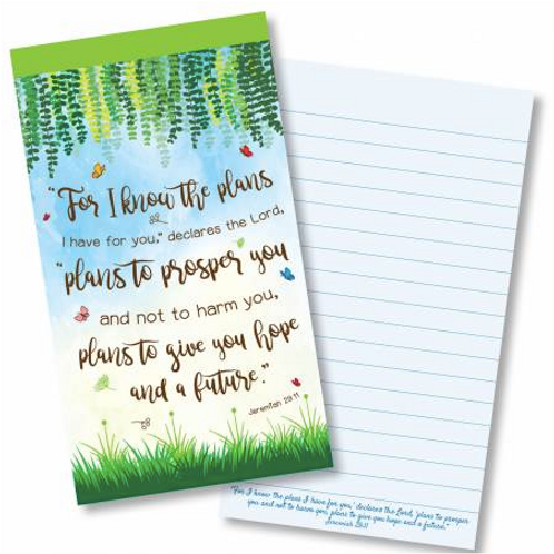 Plans to give you hope Jotter Notepad. For I know the plans Notebook