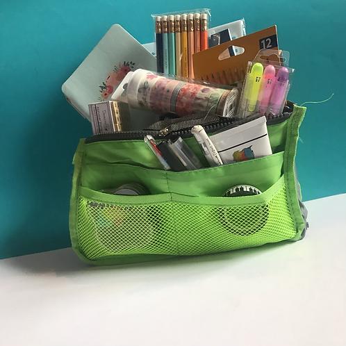 Bible Journaling Art Bag. Green Storage Bag