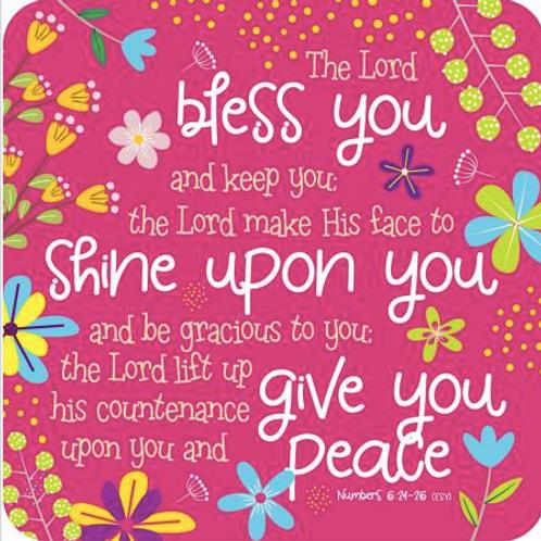 Christian Coaster. Bible Verse Gift. Bless you Coaster