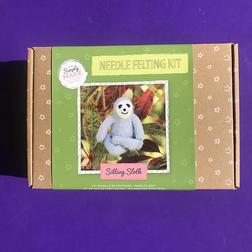 Sloth needle felting kit. Sloth Christmas gift.