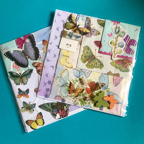 Butterfly bible art journaling kit. Butterflies kit