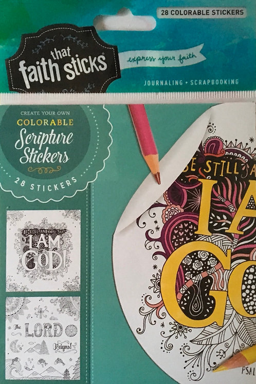 Be Still and Know Colouring Stickers. Faith sticks.