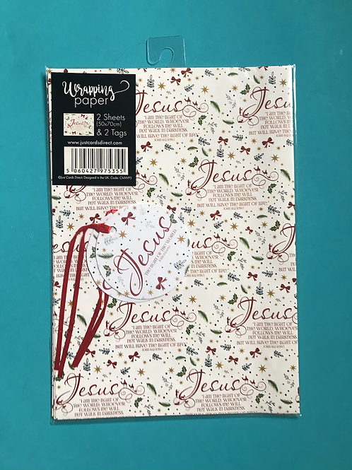 Christian Christmas Wrapping Paper.  Jesus Gift Wrap