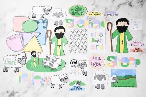The Good Shepherd. Bible art journaling kit.