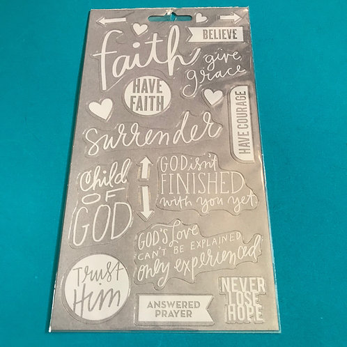 Bible Verse Stickers. Christian Stickers. Bible Art Journaling Stickers.