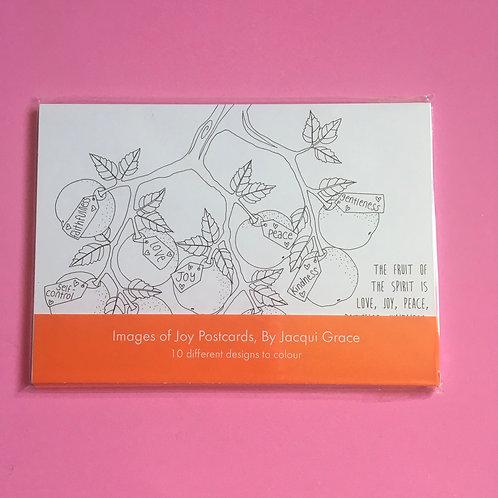 Images of Joy Inspirational hand-drawn postcards. Jacqui Grace