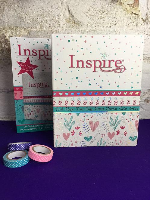 NLT Inspire Bible For Girls. New Living Translation Journaling Bible for Girls.