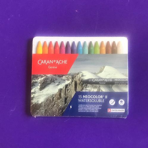 Caran D'Ache-NeoColor 2 Water Soluble Wax Pastel Set.