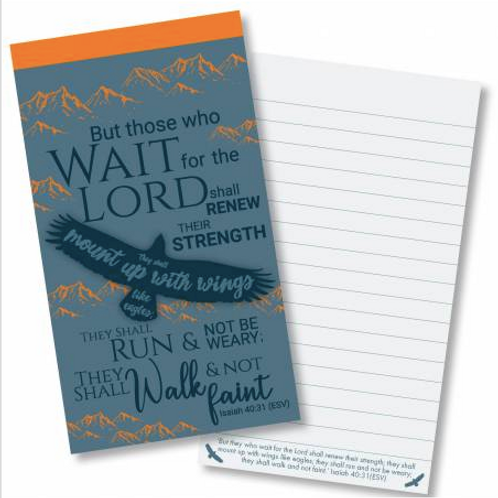 Eagles wings Jotter notepad. Notebook Stocking Filler Christian