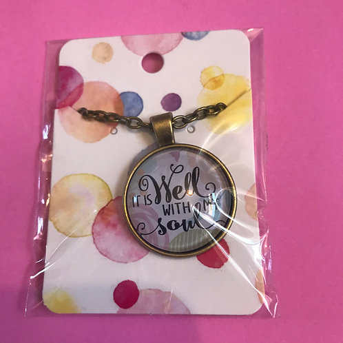 It is well with my soul. Christian Necklace & Pendant. Bible Gift.